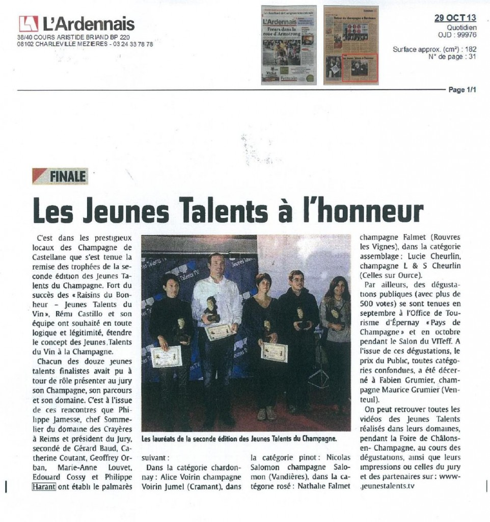 L'Ardennais 29 oct 2013