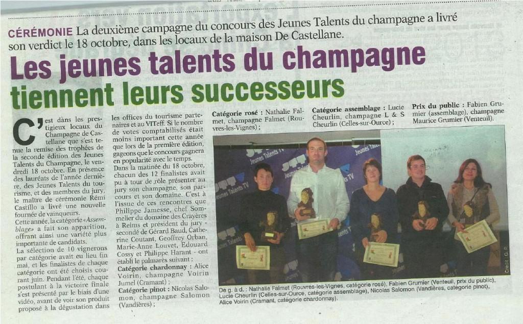 La Marne Agricole 28 oct 2013