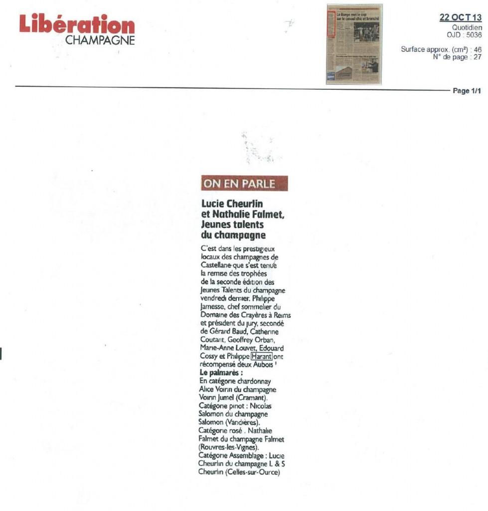 Libération Champagne 22 oct 2013