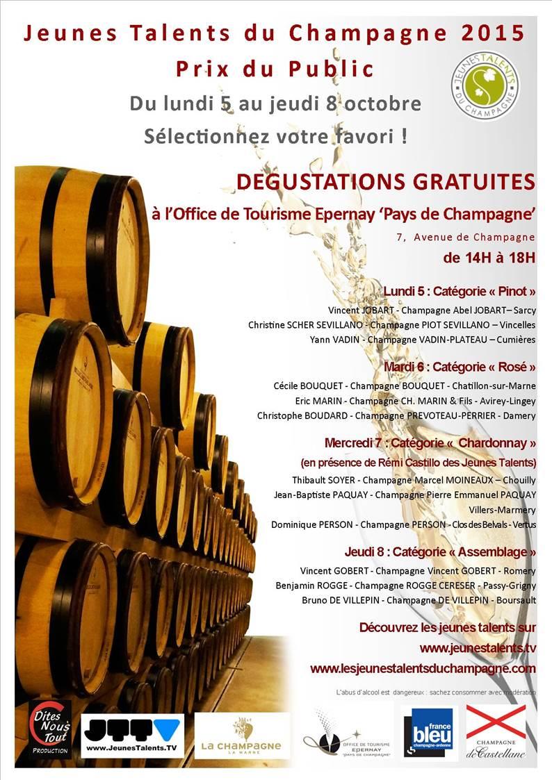 DEGUSTATIONS PUBLIQUES