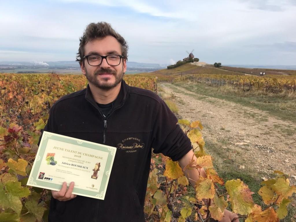 Adrien ROUSSEAUX du Champagne ROUSSEAUX BATTEUX Mention Spéciale du Jury