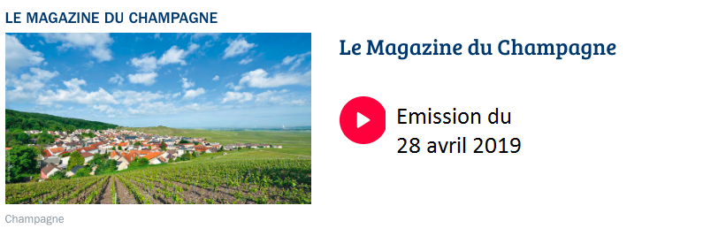 Le Magazine du Champagne sur France Bleu Champagne-Ardenne