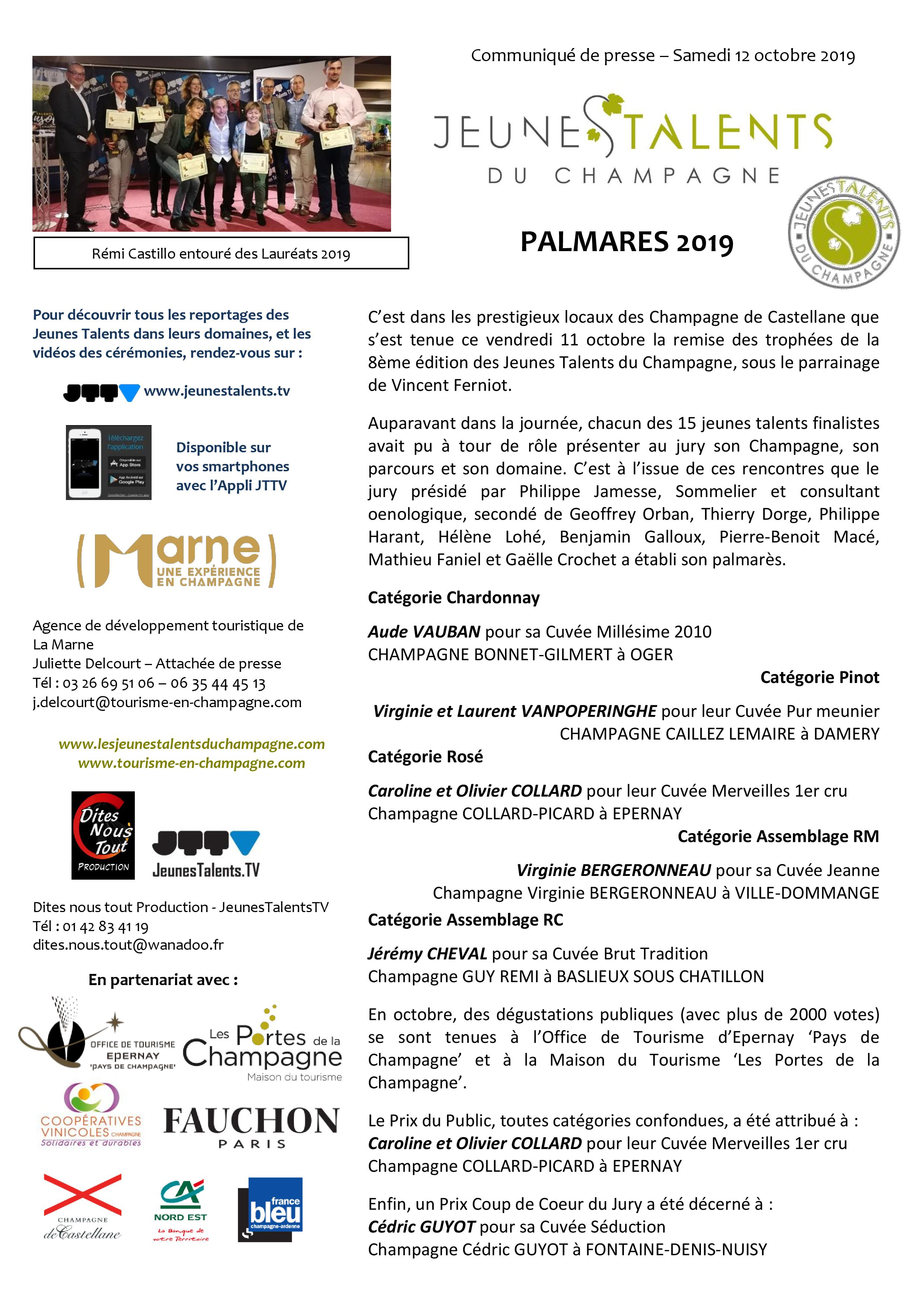 CP PALMARES JT CHAMPAGNE 2019